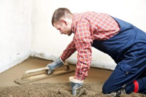 plasterer resurfacing concrete cement floor